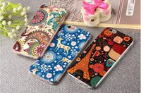 Wholesale Dust Plug Orange - For Apple iPhone 6 for 6s Plus case 3D Embossing Soft Silicone TPU Back With Dust Plug for iPhone 7 6 6s plus Cover Case