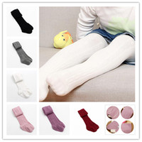 Wholesale Black Stockings Leggings - Baby Girls braids Jacquard Pantyhose Ins hot Babyighs Infants Cotton Tights Kids Cute leggings stocking 6colors 3sizes