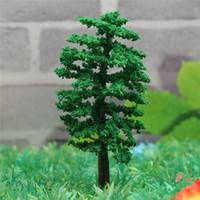 Wholesale Wholesale Miniature Craft Trees - KiWarm Modern Mini Tree Fairy Garden Decor Miniatures Micro Landscape Resin Crafts Bonsai Figurine Garden Terrarium Accessories
