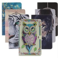 Wholesale Owl Tablet Cases - Lion Tiger Owl abstract Printing Pattern Flip pu Leather Smart Stand Shell Cover Case for Apple Ipad 2 3 4 mini 1 2 3 Air 1 2 Tablet case