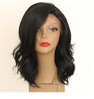 Wholesale Small Cap Wigs - ePacket free shipping Fashion Women's Long Black Heat Resistant Hair Synthetic Cosplay Anime Wigs+Cap