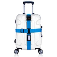 Wholesale Wholesale Travel Trolley - Wholesale- 1pc Cross Luggage Strapping with Lock Trolley Luggage Travel Suitcase Strap Baggage Belt Safe Packing Belt with POM Buckle
