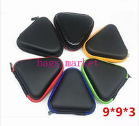 Wholesale Trunk Usb - Black green red Multiple Colors Eva Fidget Spinner Toys Pouch Storage Bags Bluetooth Headset Phone Cable USB Bags Case Gift Organization DHL