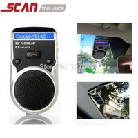 Wholesale Car Bluetooth Solar Powered - Wholesale-Solar Powered Bluetooth Car Kit LCD Display Caller ID Hands Free Bluetooth Speaker in Car Handsfree Calling