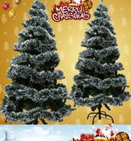 Wholesale green plastic trees for sale - 2M christmas decoration ribbon dark green tops white edge ribbon garland new year enfeites de natal beautiful noel christmas
