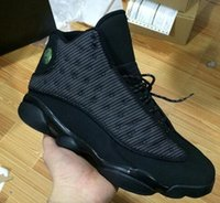 Wholesale Reflect Color - 2017 Retro 13 OG Black Cat Athletic Shoes 3M Reflect For Sports Training Sneakers High Quality kids 36-47