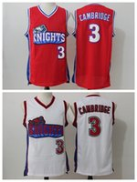 Wholesale Mike Knight - Cheap Hollywood Movie Like Mike LA Los Angeles Knights Basketball Jerseys 3 Cambridges Jersey White Red Basketball Shirts Free Shipping