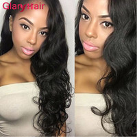 Wholesale brazilian human hair body curl resale online - Glary Human Hair Extensions Double Weft Mink Brazilian Virgin Hair Bundles Body Wave Hair Weaves Straight Deals Natural Wave Kinky Curl