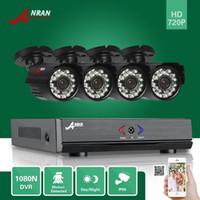 camaras hdmi al por mayor-ANRAN 4CH HDMI 1080N AHD DVR a prueba de agua HD 1800TVL 24IR Día de la Cámara de Vídeo CCTV Home Surveillance Security System