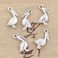 Wholesale Tibetan Bird Pendant - Wholesale-20pcs Charms pelican sea bird 18*9mm Antique pendant fit,Vintage Tibetan Silver,DIY for bracelet necklace