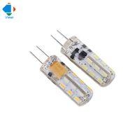 Wholesale Mini Light Chandeliers - 10x G4 led bulb mini Ac DC12v light DC12V lamp DC24v bulbs Ac110v  220v smd3014 24leds 360 degree high bright chandelier lightslampadine