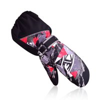 Wholesale Baby Snow Gloves - Dropshipping Children Thermal Utral Long Waterproof and Windproof Baby Boys Ski Snow Gloves Running gloves winter gloves girls