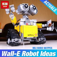Wholesale 2017 New Lepin Idea Robot WALL E Building Set Kits Toys Educational Bricks Blocks Bringuedos for Children DIY Gift
