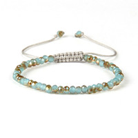 New Design Moda Jóias de Verão Atacado Mix Colors 6mm Facted Crystal Jade Beads Macrame Cheap Bracing Bracelets