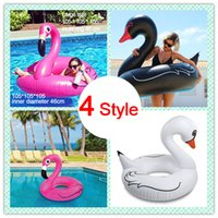 Flamme gonflable White Black Swan Duck Giant Pool Flotteur Natation Ring Beach Adultes Femmes 's Toys pour la piscine Party Cosplay