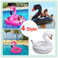 Wholesale beach toys for adults - Inflatable Flamingo White Black Swan Duck Giant Pool Float Swimming Ring Beach Adults Women`s Men`s Toys For Pool Party Cosplay