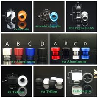 Wholesale Drip Aluminum - 8Styles Resin Teflon Drip tip Wide Bore Five Pawns 510 Acrylic Aluminum Mouthpiece for Tfv8 Big Baby Avocado 24 Goon 528 Griffin Kennedy