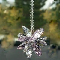 ingrosso ornamento di perline-10 PZ K9 Cristallo di Vetro Arcobaleno Suncatcher Prisma Pendente In Rilievo Di Cristallo A Mano Ornamento Ornament Wedding Decor W011