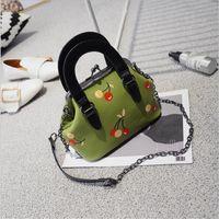 Wholesale Korean White Tote Leather Bag - 2017 New fashion hot sale cherry pattern Korean style bags for women handbag tote evening bag yong fashion