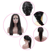 Wholesale cheap prices for human hair - Brazilian Human Hair Wigs for Black Women Lace Front Wig Peruvian Indian Mayalian Hair Wigs Natural Color cheap price 10-24 inch