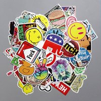 Wholesale Bombs Sticker - 100 pcs Car Styling decal Stickers for Graffiti Car Covers Skateboard Snowboard Motorcycle Bike Laptop Sticker Bomb Accessories Vinyl Decal