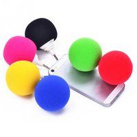 Wholesale Dock Mini Ball Portable - Wholesale- Cute Speakers Stylish 3.5mm Ball Mini Speaker Portable Audio Dock For iPhone 6S Samsung Galaxy Note 3 PC MP3 MP4