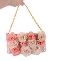 Wholesale Floral Skin - Gorgeous floral diamond rhinestone retro vintage flower strap case cover skin for iPhone X luxury case