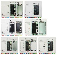 Wholesale Iphone 4s Screw Mat - Professional Magnetic Screw work Mat For LCD Screen Opening Tools Repair Work Pad For iPhone 4 4s 5 5s 5c 6 6plus 6S 6Splus