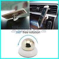 soporte giratorio del coche al por mayor-360 Rotary Magnet Soporte para coche para iPhone Accesorios GPS Cuna Kit para Samsung Soporte de pantalla Soporte magnético inteligente para teléfono móvil Soportes para coche
