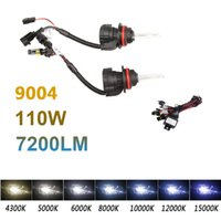 Wholesale Hid 55w Set - 2pcs 9004 55W xenon hid light double beam wire set 6000K 8000K 10000K for car headlight