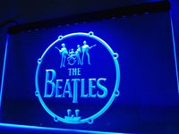 LF013b- The Beatles Band Music Drums LED Neon Light Sign
