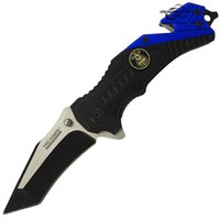 Wholesale assisted knives - 7 quot POLICE GLASS BREAKER SPRING ASSISTED TACTICAL FOLDING KNIFE Blade Pocket MZY