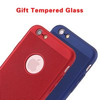 Wholesale Thin Hard Plastic Case - For iPhone 6s 7 6s plus Phone Cases Breathing Net Shockproof PC Hard Ultra Thin Back Covers For iPhone X 8 6 6s 7 Plus Cellphone Cases