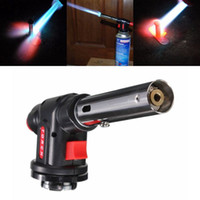 Wholesale Wholesale Cutting Torches - Newest Welding Soldering Lighter Butane Burner Gas Torch Flamethrower BBQ Tool Camping Multifunction Gun Welding Cutting Drying