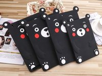 Wholesale Ipad Mini Bear Cases - Wholesale- Matsumoto Cartoon 3D Kumamon Bear Silicone Funda case For Ipad 2 3 4 5 6 Air 1 Air 2 Mini 1 2 3 4 Soft Rubber Cover Capa Para