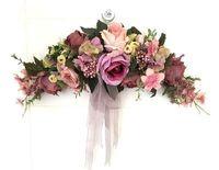 Wholesale Purple Door Wreath - Wholesale-Purple Rose Artificial flowers Door lintel Flower Mirror Flower garland wreath wedding flower Background props Free shipping