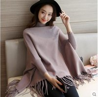 Wholesale Fringed S - 2018 cloak for feminino blusa tricot autumn sexy women's knitting sweater female long sleeve fringed edge pullover dongguan_wholesale