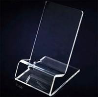 ingrosso supporto portacandele acrilico-DHL consegna veloce Acrilico cellulare telefono display stand stand supporto per iphone 6inch Samsung HTC