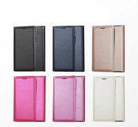 Wholesale Pink Plastic Purse - Official Leather Wallet Case For Iphone X 7 7+ 7 Plus Leechee PU Flip Cover Card Slot Skin Litchi Pouch 2017 Cell Phone Purse Book Pouches