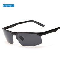 Wholesale Magnesium Aluminium Sunglasses - 2017 male fashion classic sun glasses men uv polarizing sunglasses aluminium magnesium sun glasses for men