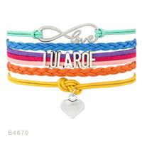 Wholesale Dropship Charms - Custom-Infinity Love Lularoe Heart Bracelets unicorn Dia mond Charm Wrap Orange Yelow Blue Custom any Themes Dropship