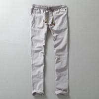 Wholesale Men Leisure Pants - Wholesale-2016 New Design men'sFashion High Quality sweatpants Comfortable Leisure Brand Men Linen Pants Casual Mens Joggers Size M-5XL