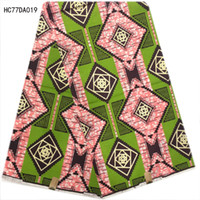 Wholesale Real Hollandais - wholesale and retail colorful High quality hollandais real wax fabric african wax prints fabric wax african ankara fabric 6 yards HC77DA019