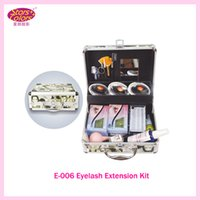 Wholesale Eyelash Grafting Kit - Wholesale-2016 New False Double Layer Beauty Grafting Eyelash Extension Kit Full Set with Silver Case for Beauty Salon and Makeup Artists