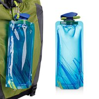 Wholesale Flexible Gears - Fashion Flexible Collapsible Foldable Drinking Water Bottle Bag Pouch Outdoor Hiking Camping Water Bag Hydration Gear