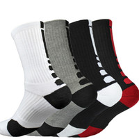 Wholesale elite socks wholesale - High Quality Fashion Men's Thicken Towel Socks Outdoor Sports Socks Who Men's Elite Shoe rofessional basketball soccer socks Free Shipping