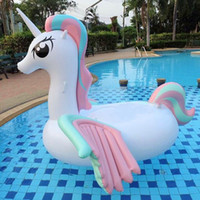 Wholesale Tubes For Boats - Inflatable Unicorn Giant Pool Float Swimming Float For Adult Tube Raft Swim Ring Summer Water Fun Pool Toy