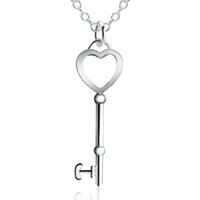 """Wholesale 18 Key Jewelry - Key Necklace Sterling Silver Hermosa 2017 New Arrival Womens Mens Striped Small Alloy Personalize Chain Jewelry 18"""" INCH"""