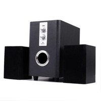 Wholesale Wooden Pc Speakers - High Quality 25W 2 Channel Laptop USB Wired Stereo Wooden Speakers Built-in Sound Bar For PC Computer 3 Pieces a Set