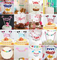 ¡Al por mayor-barato! Feliz Cumpleaños Cake Topper Set para Niños Happy Birthday Party supplies Decoración de Suministros Baby Shower Party Decoration